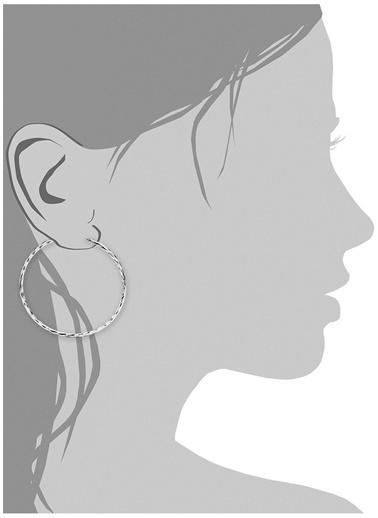 Amor A 9061631 925 Ayar Halka Kadın Küpe Renksiz